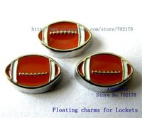 Wholesale lowest price American football zinc alloy DIY Floating Locket charms fit for locket