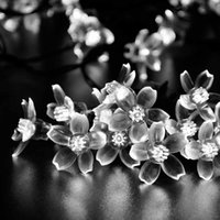Wholesale Solar Fairy String Lights LED White Blossom Decorative Gardens Lawn Patio Christmas Trees Weddings Parties Indoor and Outdoor Use