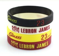 Wholesale Fans Favorite Basketball King Lebron James Signed Silicone Bracelet Customized Rubber Sports Band Eco friendly Hologram Bracelet