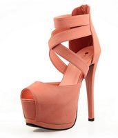 high heel open toe shoes - Buckle platform shoes women pumps sexy high heels shoes open toe plain waterproof summer sandals for women shoes