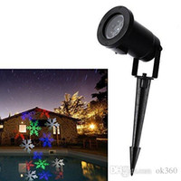 Wholesale Outdoor Christmas Laser Lights Snowflake Projector Holiday Light Waterproof IP64 RGB Color Snow LED laser Projector Fast ship