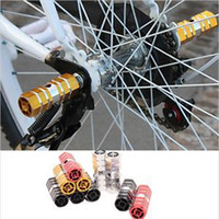Wholesale 100 Brand new Pair Bicycle Rear Axle Pedal Aluminum Alloy Bike Stand Foot Back Pedal