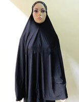 muslim prayer cap - Islamic Clothing Muslim Prayer Clothes Long Big Black Hijab Cap Robe Arabe