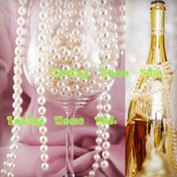 Wholesale 20 Meters Roll mm Ivory Light Beige Pearl Round Strands Garland Spool Beads Home Ceremony Wedding Favor Christmas Centerpiece Decor