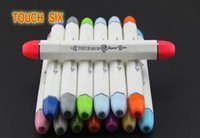 paint marker - Touch Brush markers pen professional heads painted touch6 markers pens free bag designs Drawing painting art pens brush colors newest