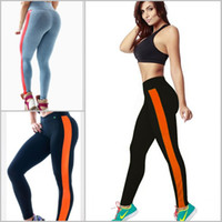 active athletic - 2016 Women Elastic Cotton Legging for Yoga Fitness Gym High Waist Sports Pants New Athletic Slim Shaper Bottoms Patchwork Tights L109