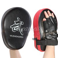 Wholesale 1 pair MMA Target Focus Punch Pads Boxing Mitts Training Glove Karate Muay Thai Kick order lt no track