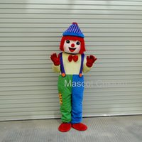 gymboree clothing - Hot Sale Promotion Fancy Hot Sale Clown Walking Cartoon Doll Clothing Cartoon Costumes Performing Props Gymboree Mascot Costume N42014