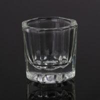 acrylic glassware - Beautiful Nail Crystal Cup Nail Art Acrylic Liquid Powder Dappen Dish Glass Cup Glassware Tool