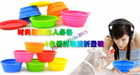 Wholesale Pet Products silicone Bowl pet folding portable dog bowls for food the dog drinking water bowl pet bowls