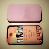 Wholesale New Cheap Makeup Tools Set Hello Kitty Mini Brush Kit Face Pieces Brush Set With Iron box