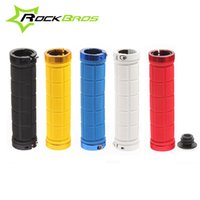 Wholesale Hot Sale ROCKBROS Lock On Bicycle Grips Rubber MTB Road Bike Grips Handle End Bar Cycling BMX Fixed Gear Handlebar Grips Fixie Bike Parts