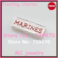 air force items - 10pcs ITEM TOTAL hot sell items mixed charms of ARMY MARINES NAVY AIR FORCE for floating glass locket