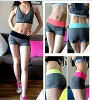 wholesale yoga pants - Women yoga gym shorts Sports Fitness Brand Yoga pants For Run Summer Beach Quick Dry Female Running Cycling Jogging Gym Training Sport Short