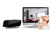 Wholesale Hot sale P wide angle mp wireless WiFi alarm clock camera P2P camcorder hidden camera degree mini DV DVR