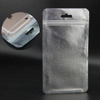 Wholesale Luxury clear silver packing Bag zip lock pouch warterproof opp bags for phone case usb cable Electronics Accessories