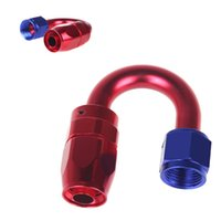 Wholesale AN8 degree Fuel Swivel Oil Hose End Fitting Adapter Aluminum Red Black