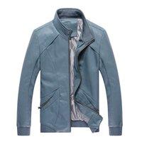 Cheap 2014 autumn spring models Mens leather collar Slim Korean men short paragraph pu machine wagon jacket men