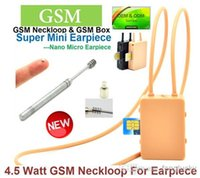 Wholesale 5pcs DHL Watt Powerful GSM Box Neckloop with for Magnetic earpiece