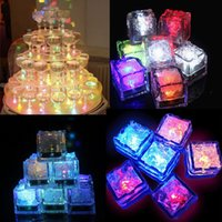 Wholesale DHL FREE Flash Ice Cube Put Into Water Drink Punchbowl Flash Automatically Water Actived LED Light For Party Wedding Bars Christmas