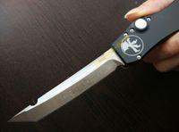 kydex - Microtech Halo V OTF T E Satin fine edge Tanto point pocket knife knives w Kydex sheath