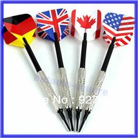 Wholesale B39 Dart Brass Soft Tip Bar Darts With Nice National Flags Flights Throwing Toy
