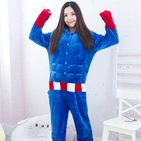 adult spiderman pyjamas - Fashion Newest Halloween Christmas Kawaii Unisex Adult captain spiderman Pajamas cartoon Onesie jumpsuit Pyjamas Cosplay Costume Sleepsuit