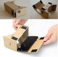 Wholesale Google VR D Glasses DIY Google Cardboard Virtual Reality VR Mobile Phone D Viewing Glasses for quot Screen
