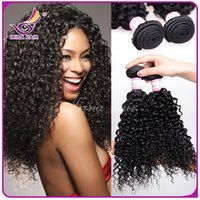Cheap 50%Off!New Curly Hair Extensions 100% Brazilian Virgin Hair Kinky Curly 3pcs lot Peruvian Malaysian Indian Mongolian Kinky Curly Hair Weaves