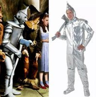adult wizard of oz costumes - Foreign trade COS Halloween Tin man clothing adult boy iron man suit The wizard of oz Tin man dress