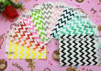 Cheap 2015 New 325pcs lot Colorful Chevron Candy Gift Paper Bags Without Handle For Birthday Party Favour Food Packaging 11 Colors