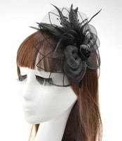fascinator hat - New Party Cocktail Women Fascinator Party Wedding Feather Veil Hat Hair Clip Valentine Day Gift J392