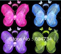 Wholesale Children s Performing wings Butterfly wings wings headband magic wand color