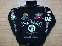 Wholesale Embroidery LOGO F1 FIA NASCAR IndyCar V8 Supercar MOTO GP Racing Cotton Jacket Motorcycle Rider Jacket Jack Daniels Jacket AB091