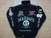 al por mayor chaqueta para moto-LOGO F1 FIA NASCAR IndyCar V8 Supercar MOTO GP Racing Chaqueta de algodón Chaqueta de motociclista Chaqueta Jack Daniels AB091
