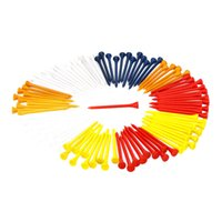 Wholesale Hot Sale mm Mixed Color Wood Golf Tees Golf Equipment Y0756