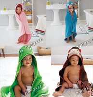 bath - 40pcs Hooded Bath Towels Bathrobe Peridium Wrapped Warm Cotton Terry Bathing Towel For Baby Kids Children Free DHL Factory Direct