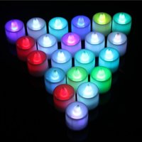 Wholesale 3 cm LED Tealight Tea Candles Flickering Flameless Light Battery Operated Wedding Birthday Party Christmas Decoration