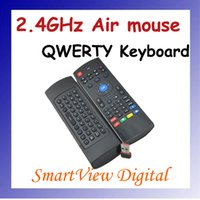 Wholesale 2 GHz Remote Wireless in1 Air Mouse Fly Mouse QWERTY Keyboard GYRO Sensing Remote IR Learning for Android TV Computers