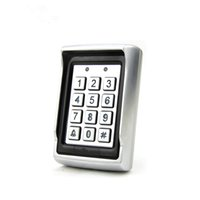 Wholesale New Arrvial Metal Rain proof Case Anti vandal KHz RFID Blue Backlit Access Control Keypad with Dual Relay Output