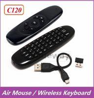 10X C120 Clavier Mini sans fil QWERTY Air souris contrôleur de contrôle à distance pour Android TV Box PC MXQ M8S T8 T95 Pro Plus