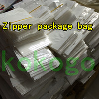 Wholesale DHL Clear And White Zipper Pearl Plastic Poly OPP Packing Zip Lock Retail Package PVC Bag Boxes For Jewelry Food Gift Cable cm cm