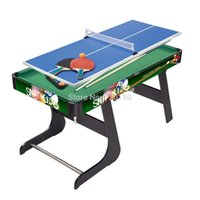 folding tables - New sport game folding snooker table in function billiards and table tennis game colour painting pool table to adult