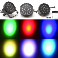 Wholesale AC220V V W Channel RGB Led Flat Par Light Stage Lighting for Club DJ Stage Party Disco w DMX Control