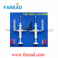 Wholesale RFID Animal microchip Syringe implanter2 mm KHz ISO11784 chip injector for pet management