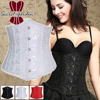 Wholesale Dobby waist training corsets with steel boning Underbust Corset Steel Cincher Bustiers For Women Steel Boned Short Corselet