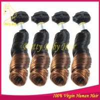 Cheap Peruvian Hair ombre human hair Best Bouncy Curly Machine Double Weft human hair weave