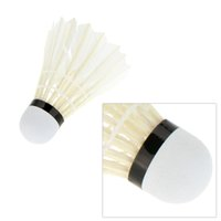 Wholesale 12 Duck Feather Cork Badminton Shuttlecocks Indoor Sports Training White Badminton Ball Badminton Shuttlecock