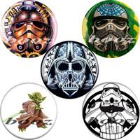 Wholesale star wars acrylic black piercing body jewelry earrings ear plugs and tunnels gauges AE