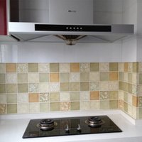 ceramic wall tile - 50x50cm Mosaic Self adhensive Ceramic Tile Wall Paper Bathroom Kitchen Glass Film WaterProof